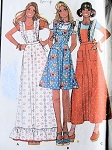 1970s PINAFORE APRONS PATTERN PRETTY STYLES McCALLS PATTERNS 4605