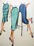 1950S SLIM SKIRT Pattern THREE Fabulous STYLES McCalls 4607 Vintage Sewing Pattern
