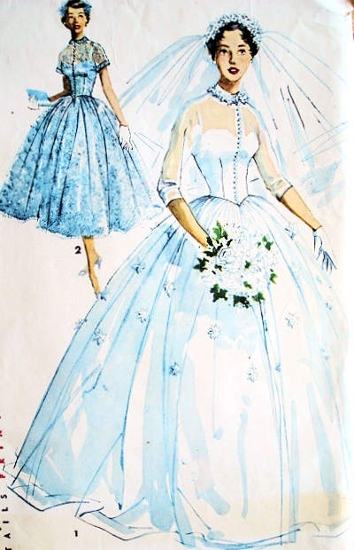 1950s Romantic Princess Grace Style Bridal Bridesmaid