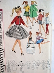 1960s BARBIE DOLL Wardrobe Pattern SIMPLICITY 4700 Cute Original Fashion Dolls Pattern Never Cut Still FACTORY FOLDED Vintage Doll Pattern
