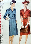 1940s TAILORED DRESS PATTERN FLATTERING STYLE SIMPLICITY 4779