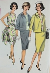 1960s SLEEK Slim Suit and Over Blouse Pattern SIMPLICITY 4800 Proportioned Sizes, Bust 36 Vintage Sewing Pattern