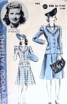RARE 1940s LUCILLE BALL Hollywood 482 Movie Star Suit Pattern Fitted Jacket Flared Skirt Vintage Sewing Pattern