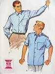 Late 1950s Mad Men Style Mens Shirts Pattern Tuck In or Over Shirt McCalls 4866