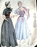 1940s Evening Gown Dress Pattern Butterick 4872 Two Pc Strapless Dress and Stunning Jacket 40s High Fashion Vintage Sewing Pattern