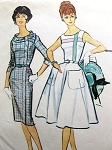 1950s LOVELY Slim or Full Skirt Dress Pattern McCALLS 4970 Two Flattering Styles Bust 33 Vintage Sewing Pattern