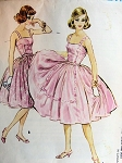 1950s DREAMY Evening Dress Pattern McCALLS 5004 Beautiful Camisole Top and Full Skirt Cocktail Party Dress Bust 34 Vintage Sewing Pattern