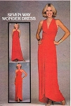 1970s FABULOUS Evening Wrap n Tie Evening Gown Maxi Dress Pattern SEVEN WAY WONDER DRESS Butterick 5230 Vintage Sewing Pattern American Hustle Era