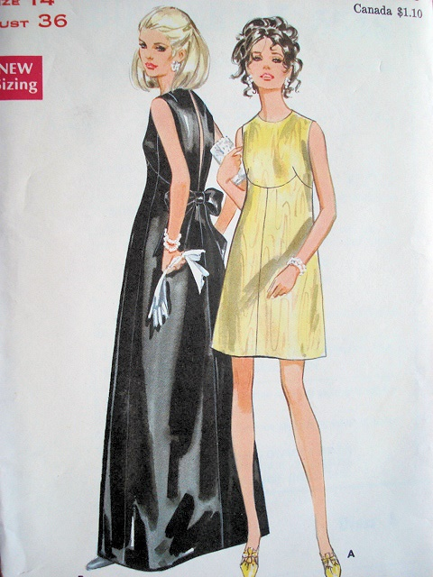 40s MOD EVENING DRESS BUTTERICK PATTERN 40 Stunning Butterick Patterns