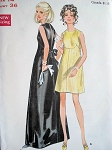 60s BEAUTIFUL Evening Gown Cocktail Party Dress Pattern BUTTERICK 5548 Stunning Special Occasion Dress, Very Like  Belinda Bellville Vogue Couturier Design 2112 Bust 31 Vintage Sewing Pattern FACTORY FOLDED