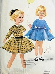 1950s CUTE Little Girls Dress HELEN LEE Designer Childrens Pattern McCalls 5576 Sweet Little Girls Dress Attached Petticoat Size 6 Vintage Sewing Pattern UNCUT