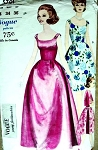 1960s BELL SHAPE EVENING GOWN PATTERN VOGUE YOUNG FASHIONABLES  5701