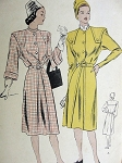 VINTAGE 1940S VOGUE COAT DRESS PATTERN 5740