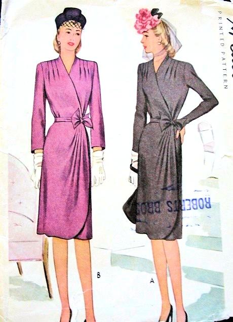1940s Classy Wrap Around Dress Pattern Mccall 5860 Figure