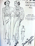 1930s  SLIM DRESS PATTERN 2 NECKLINE VERSIONS BUTTERICK 5960