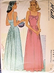 1940s EVENING DRESS PATTERN FLATTERING STYLE McCALL 5987