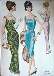 1960 SLIM EVENING GOWN DRESS PATTERN LOW BACK HANNAH TROY McCALLS 6042