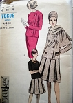 1960s  SUIT BLOUSE SCARF PATTERN 2 SKIRT STYLES VOGUE SPECIAL DESIGN 6123