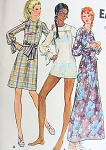 1970s DRESS or Beach Cover Up Pattern BUTTERICK 6196 Cute Micro Mini, Regular or Maxi Length Dress, Beach Dress,Swimsuit Coverup Bust 32 Vintage Sewing Pattern FACTORY FOLDED