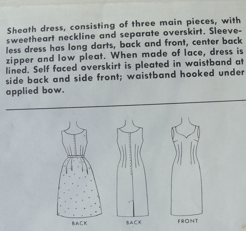 1960s Mad Men Style Cocktail Party Dress Pattern McCalls 6277 Glove ...