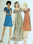 1960s  HIGH FITTED A LINE DRESS PATTERN 3 LENGTHS  SWEET STYLES BUTTERICK 6306