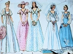1970s PRINCESS STYLE LOVELY WEDDING DRESS PATTERN