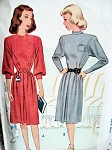 FAB 1940s DRESS PATTERN LOVELY ELEGANT STYLE B 31