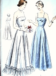 1950s BEAUTIFUL Evening Length Slips  Pattern VOGUE 6663 Bust 36 Vintage Sewing Pattern FACTORY FOLDED