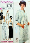 1960s CLASSY Evening Jacket,Overblouse and Skirt Pattern SIMPLICITY Designer Fashion 6787 Evening Cocktail Party or Formal Length Bust 36 Vintage Sewing Pattern
