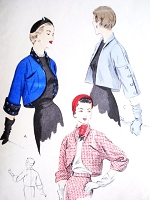 1950s FABULOUS Bolero Jackets Pattern VOGUE 7006 Copyright 1952 Two  Lovely Styles Bust 30 Vintage Fifties Sewing Pattern