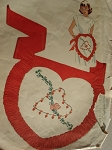 VALENTINE HEART SHAPE PARTY APRON PATTERN