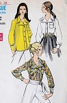 1960s BLOUSE PATTERN 3  LOVELY VERSIONS VOGUE 7353