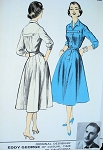 1950s DESIGNER DRESS PATTERN ADVANCE AMERICAN DESIGN EDDY GEORGE