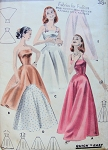 1950s Slips In 5 Version Quick n Easy Butterick 7956 Vintage Sewing Pattern Day and Evening Styles  Strapless,Full Length or Half