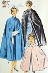 1950s FABULOUS Cape Coats Pattern ADVANCE 7963 Cape Coats In 3 Styles Perfect For Daytime or Evening Size Small Vintage Sewing Pattern FACTORY FOLDED