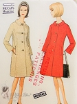 1960s CLASSY Audrey Hepburn Style Coat Pattern McCALLS 8006 Single Breasted Coat By Originala Bust 31 Vintage Sewing Pattern