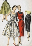 1950s SLIM SKIRTS PATTERN VOGUE PATTERNS 8290
