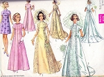 60s Wedding Dress Bridal Gown Pattern Simplicity 8091 Beautiful Styles Includes Long Train Version Also Bridesmaids Dress Vintage Sewing Pattern