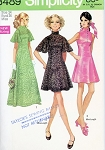 1960s MOD Evening Party Prom Dress and Slip Pattern SIMPLICITY 8489 Perfect For Lace Fabrics, 3 Lovely Styles, Mini or Maxi Lengths Bust 38 Vintage Sewing Pattern UNCUT