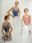 VINTAGE 1950S MCCALL'S SCOOP NECK BLOUSE PATTERN 8535