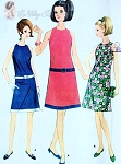 1960s FAB Mod Dress Pattern McCALLS 8612 Easy To Sew 2 Style Versions Drop Waist, High Cut Armholes Bust 36 Vintage Sewing Pattern