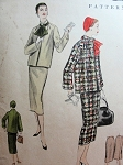 1950s BOX JACKET SUIT PATTERN + SCARF VOGUE 8735