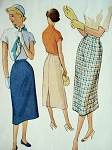 1950s Rockabilly Slim Skirts Pattern McCALLS 8885 Vintage Sewing Pattern