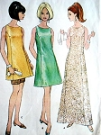 60s GLAM Figure Flattering Evening Gown and Pants Pattern McCALLS 8943 Tunic, Mini and Maxi Lengths,Classic Design Bust 38 Vintage Sewing Pattern FACTORY FOLDED