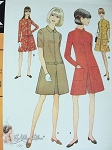Mod 60s Pantdress Pattern Pant Dress In  Two Style Versions McCalls 8958 Vintage Sewing Pattern  UNCUT Bust 32