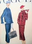 1950s BOX JACKET SUIT PATTERN VOGUE 8974