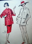 1950s  BEACH COVER UP JACKET  or EVENING   MANDARIN COAT PATTERN ADVANCE 9076