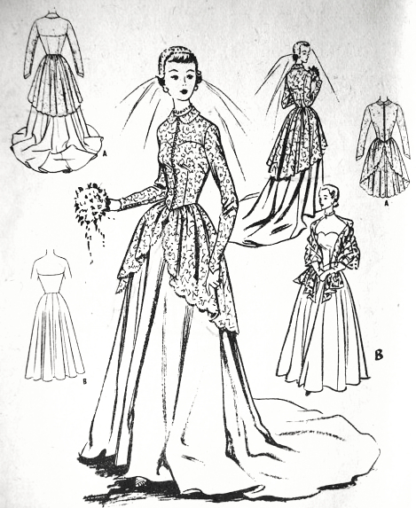 1950s g eous bridal dress or evening gown pattern mccalls 9266 1970s Knit Dresses quick view