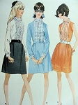 1960s PRETTY DRESS PATTERN RUFFLED FRONT MINI McCALLS 9363