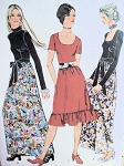 1970s LOVELY EVENING DRESS PATTERN 2 LENGTHS, NECKLINES SIMPLICITY 9602